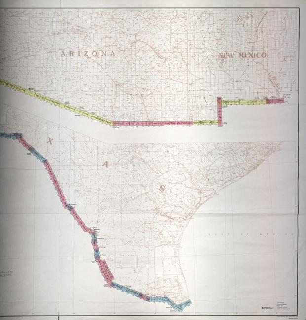 Frontera de México-Estados Unidos Indice de Mapas 2