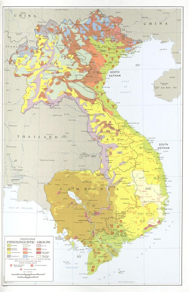 Indochina Ethnolinguistic Groups Map