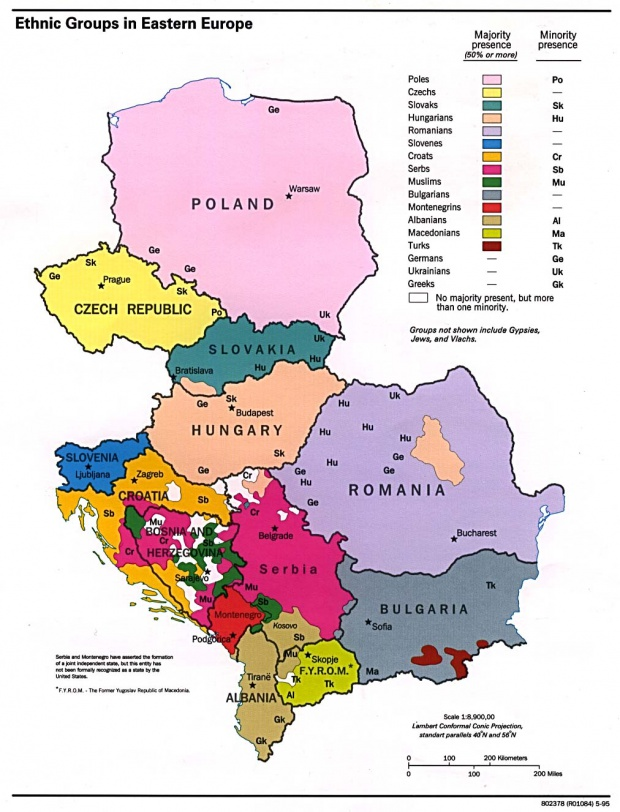 Ethnic groups in Eastern Europe 1995