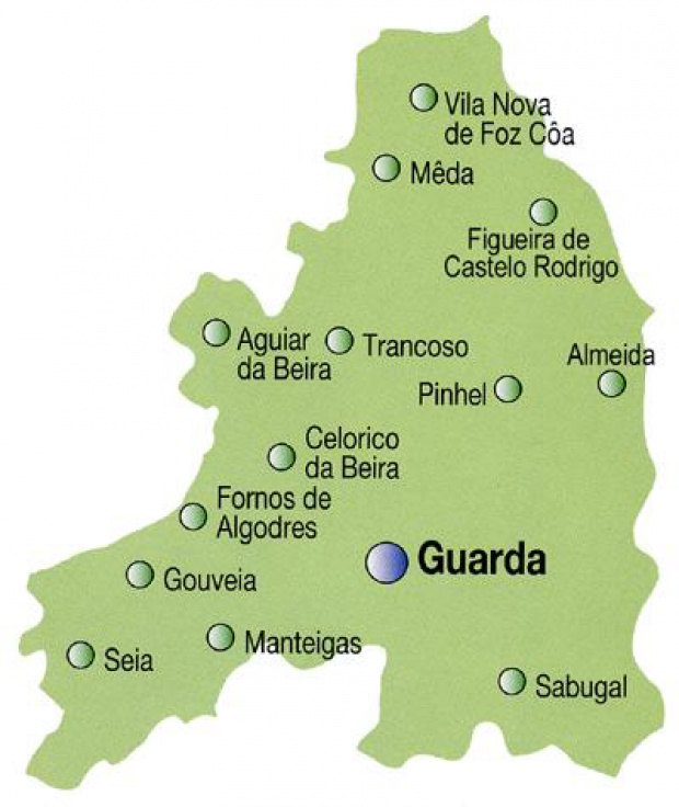 Political Map Of Guarda