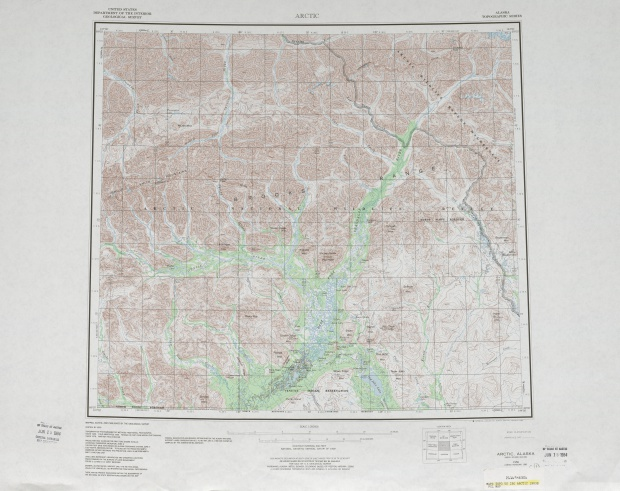 Arctic Topographic Map Sheet, United States 1983
