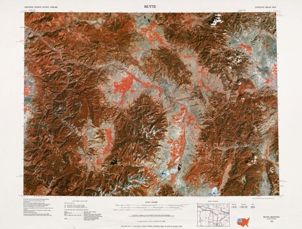 Butte Satellite Image Sheet, United States 1977