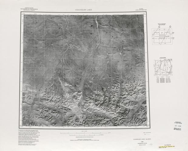 Hoja Chyler Lake de la Imagen Satelital de los Estados Unidos 1983