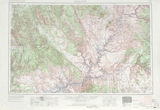Escalante Topographic Map Sheet, United States 1970