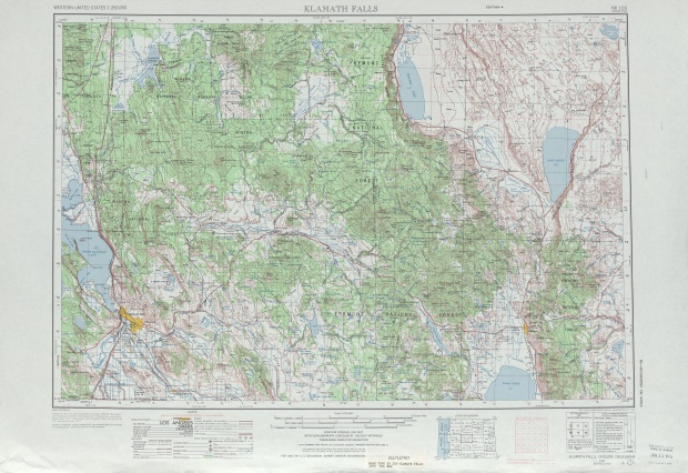 Klamath Falls Topographic Map Sheet, United States 1970
