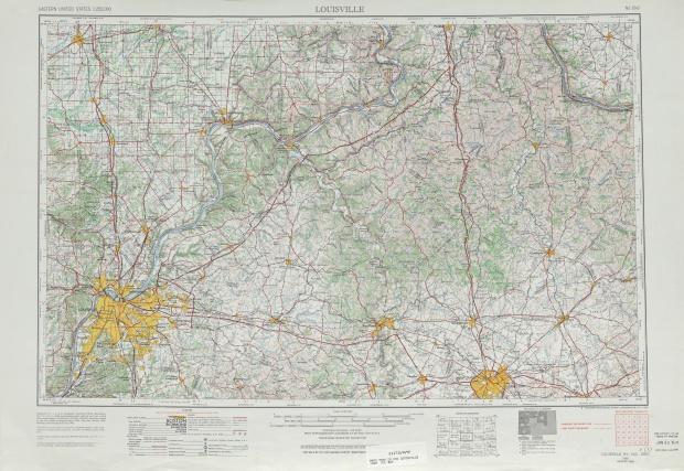 Hoja Louisville del Mapa Topográfico de los Estados Unidos 1969