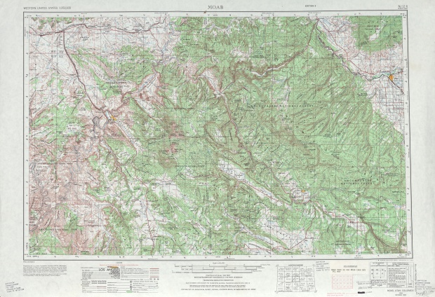 Moab Topographic Map Sheet, United States 1969