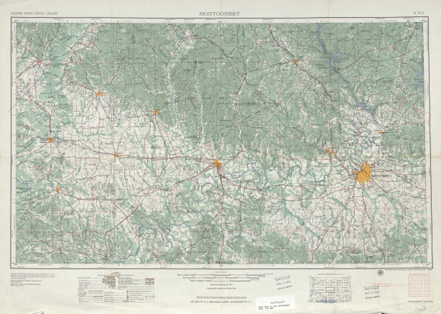 Montgomery Topographic Map Sheet, United States 1953