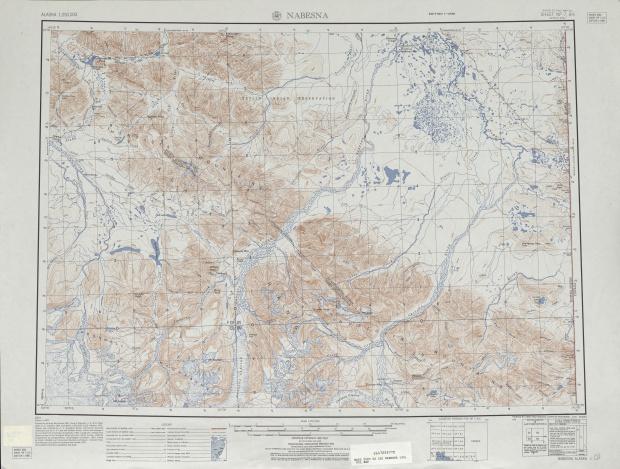 Nabesna Topographic Map Sheet, United States 1951