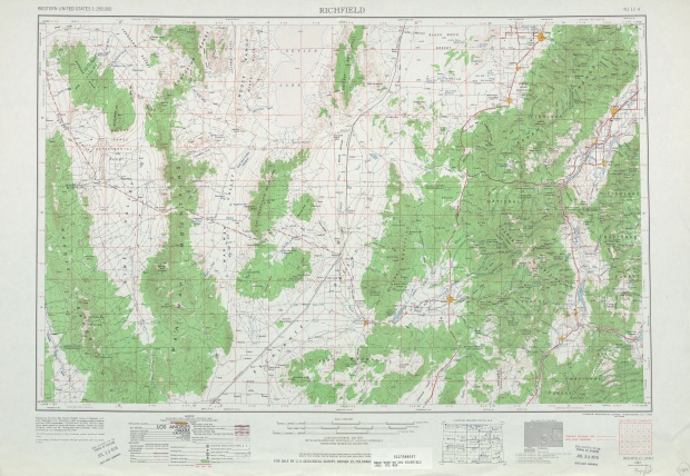 Hoja Richfield del Mapa Topográfico de los Estados Unidos 1962