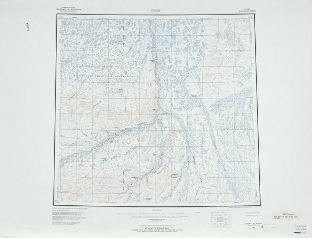 Hoja Umiat del Mapa Topográfico de los Estados Unidos 1972