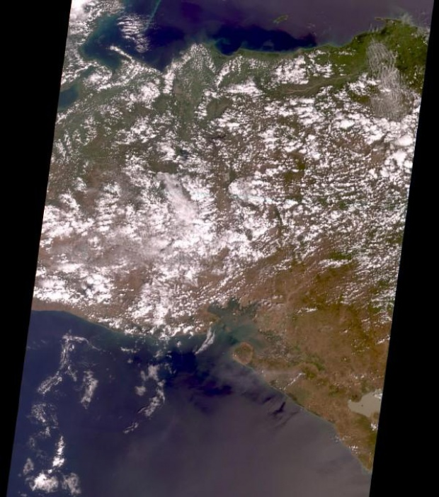 Satellite Image, Photo of Honduras & Nicaragua