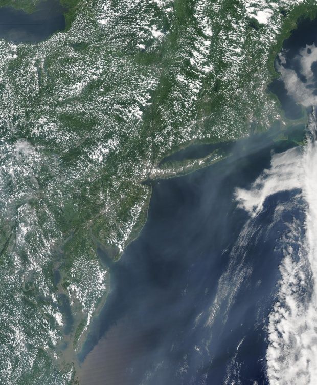 Smoke from Alaskan wildfires off eastern United States