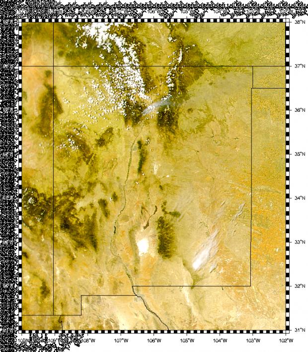 Humo del incendio de Los Alamos