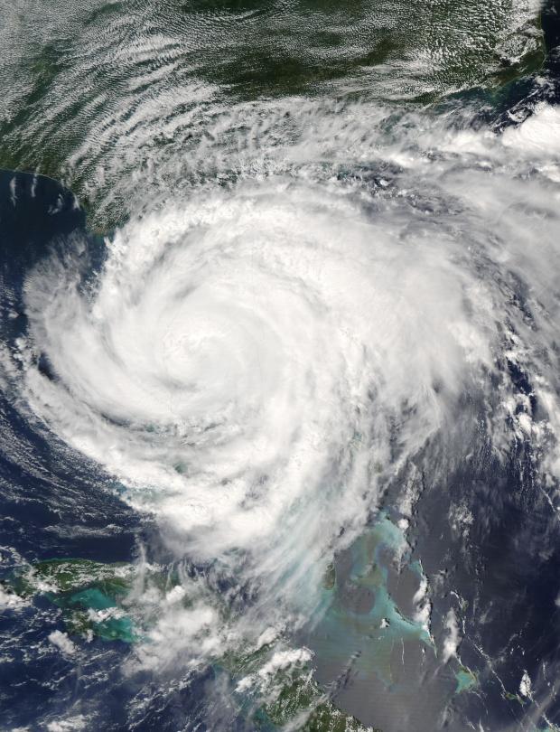 Huracán Frances (06L) encima de la Florida