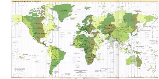 World time zones 2001