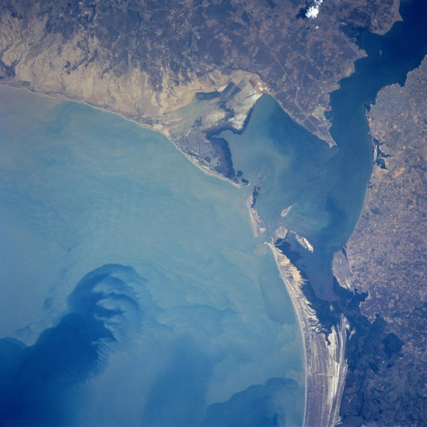 Satellite Image, Photo of Tablazo Bay, Gulf of Venezuela