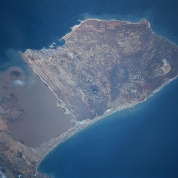 Satellite Image, Photo of Paraguana Peninsula, Venezuela