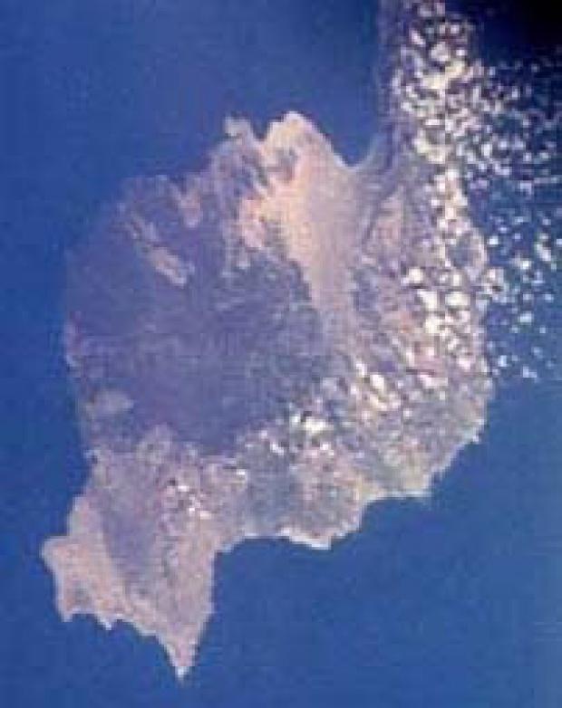Imagen, Foto Satelite, Isla Lanzarote, Canarias, España