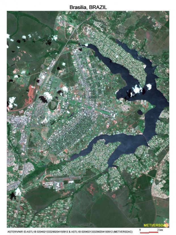 Imagen, Foto Satelite de Brasilia, Brazil