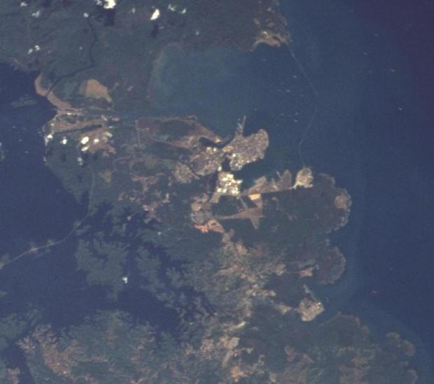 Imagen, Foto Satelite de Ciudad de Colón, Panamá