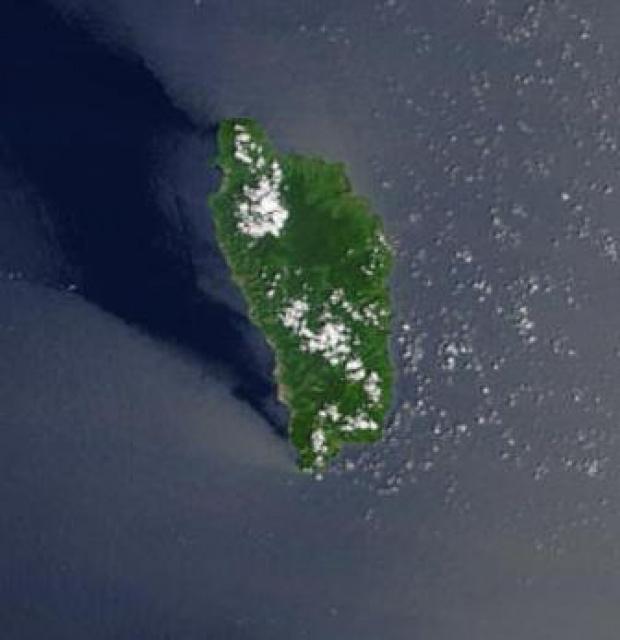 Imagen, Foto Satelite de Dominica