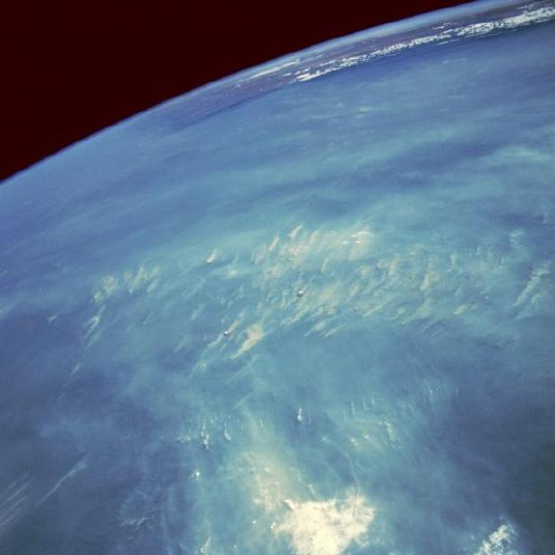 Imagen, Foto Satelite de Fuegos y Humo, Rondonia, Brasil