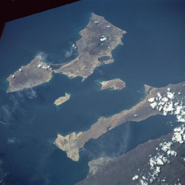 Imagen, Foto Satelite de Isla Margarita, Peninsula Araya, Venezuela