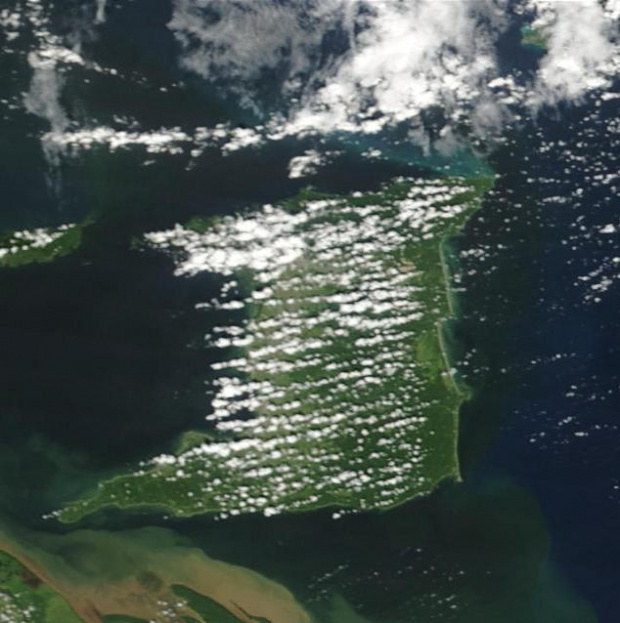 Satellite Image, Photo of Trinidad Island (Trinidad and Tobago)