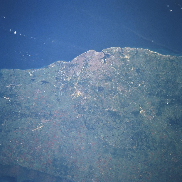 Satellite Image, Photo of Cuba's Capital City of Havana
