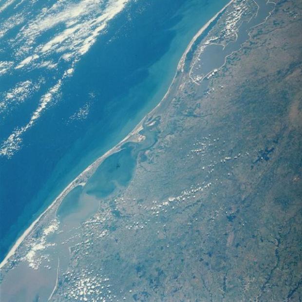 Imagen, Foto Satelite de Laguna dos Patos, Rio Grande do Sul, Brasil