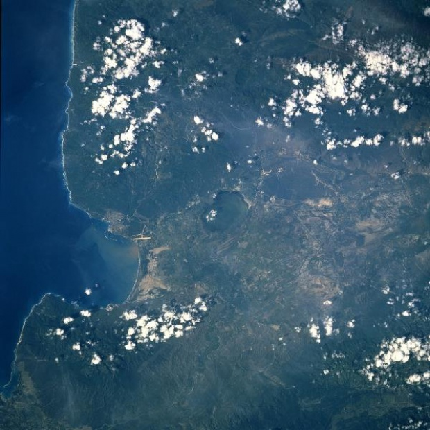 Satellite Image, Photo of Enriquillo Plain, Dominican Republic