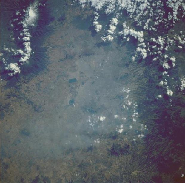 Imagen, Foto Satelite de Mexico D.F. Area de la Capital, Mexico