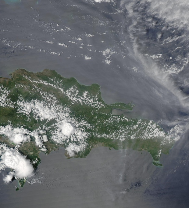 Satellite Image, Photo of Dominican Republic