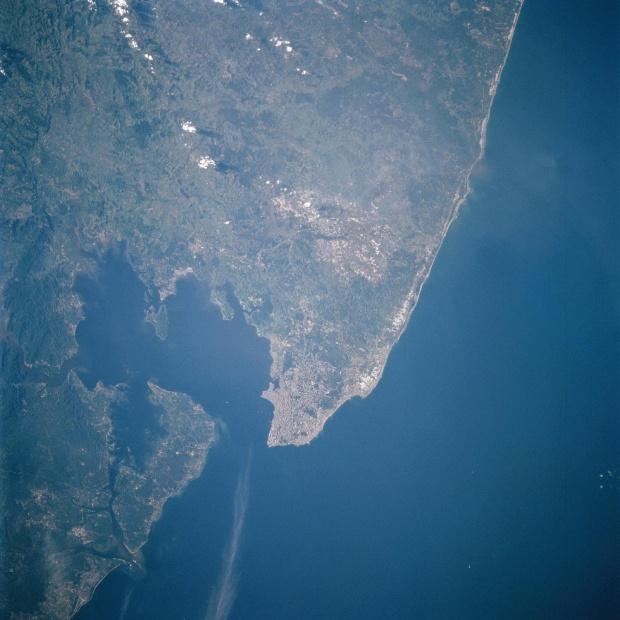 Imagen, Foto Satelite de Salvador, Bahia de Todos los Santos, Brasil