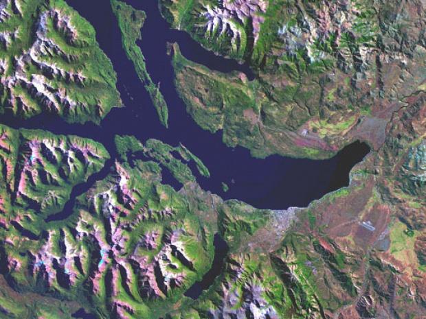 Imagen, Foto Satelite de San Carlos de Bariloche, Prov. Río Negro, Argentina
