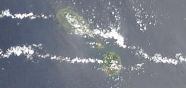 Satellite Image, Photo of Saint Kitts and Nevis