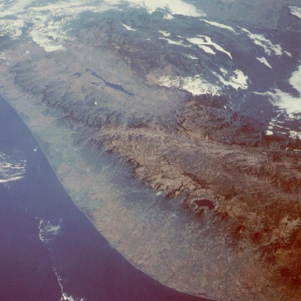 Satellite Image, Photo of Sierra Madre, Guatemala