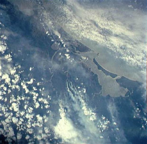 Imagen, Foto Satelite de la Bahía de Bluefields, RAAS, Nicaragua