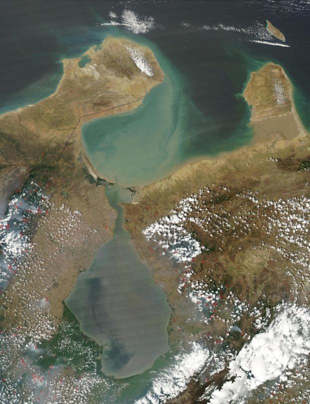 Imagen, Foto Satelite de la Ciudad de Maracaibo, Golfo de Venezuela