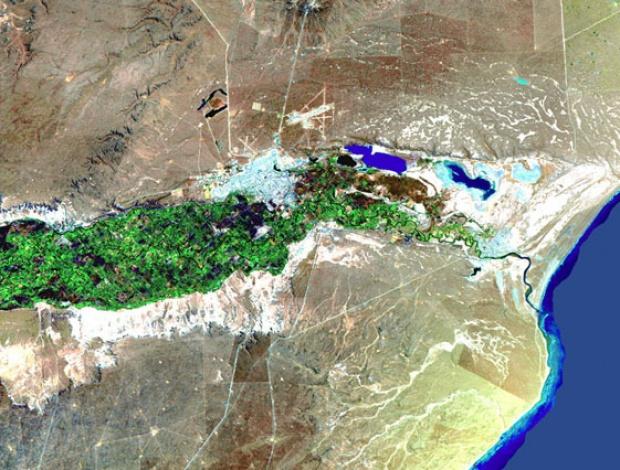 Imagen, Foto Satelite de la Ciudad de Rawson, Prov. Chubut, Argentina