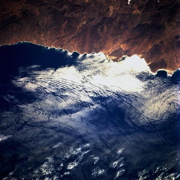 Imagen, Foto Satelite de la Costa de Baja California Sur, Mexico