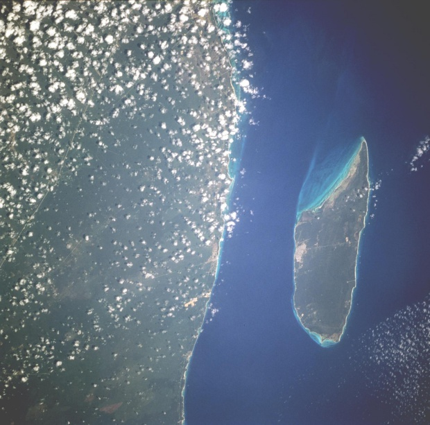 Imagen, Foto Satelite de la Isla Cozumel, Quintana Roo Mexico