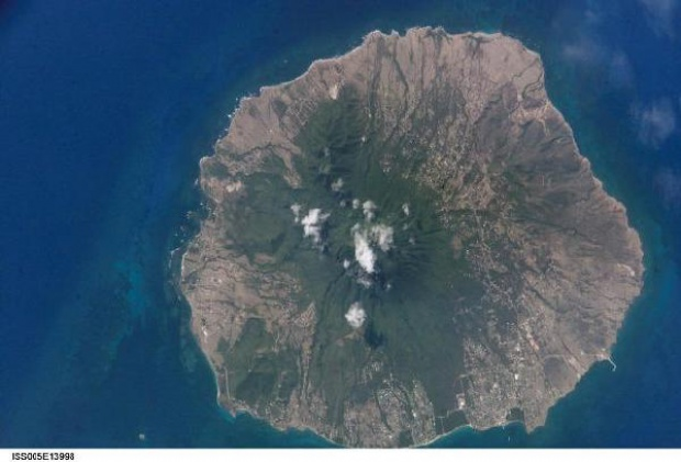 Satellite Image, Photo of Nevis Island
