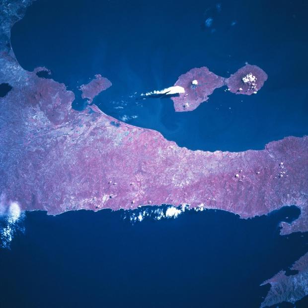 Imagen, Foto Satelite de la Isla de Ometepe, Nicaragua