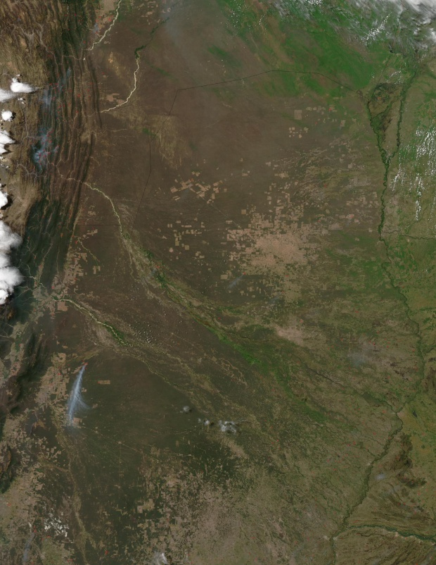 Imagen, Foto Satelite de la Parte Oeste de Paraguay