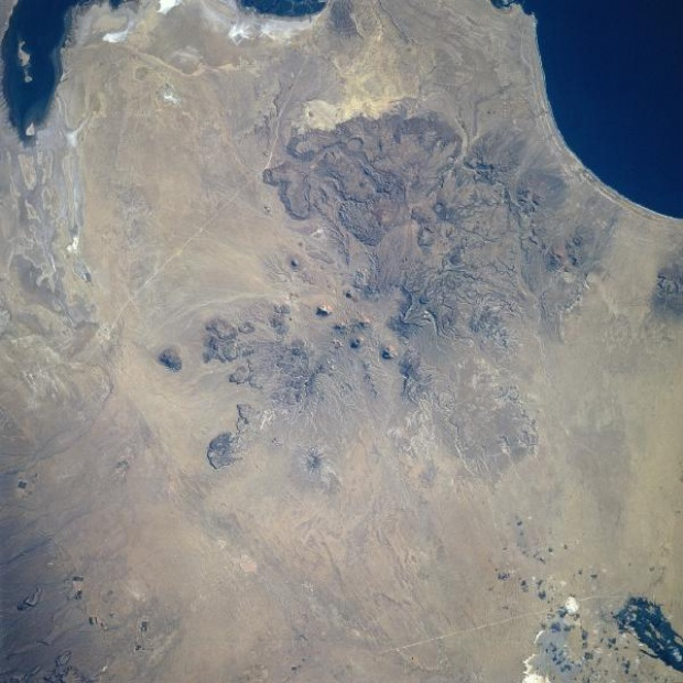 Imagen, Foto Satelite de la Sierra Santa Clara, Baja California, Mexico