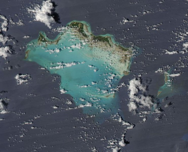Satellite Image, Photo of Turks and Caicos Islands