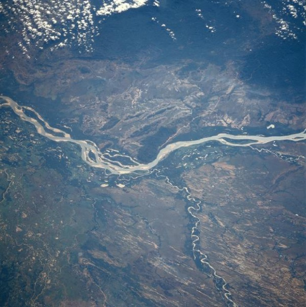 Satellite Image, Photo of Orinoco, Capanaparo, and Cinaruco Rivers, Venezuela