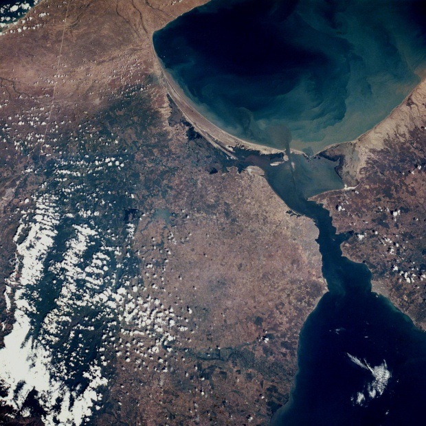 Satellite Image, Photo of Lake Maracaibo Area, Venezuela